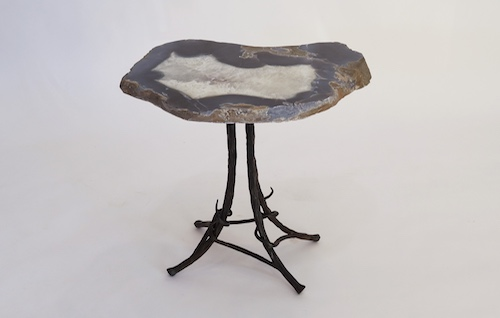 Geode furniture one of a kind functional pieces michal for Geode side table