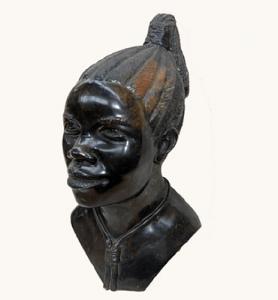 Black Carving Face Geode