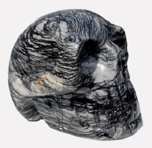 Skull Marble Geode Carving