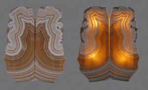 Geode Lamp Twins