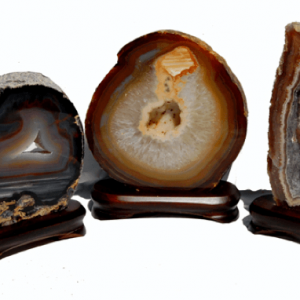 Agate Plates On Stands