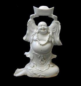 Buddha Happy Marble Statute