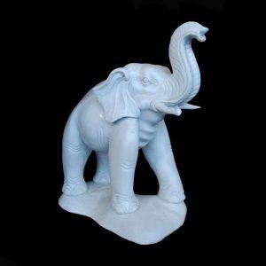 Elephant White Marble Statute