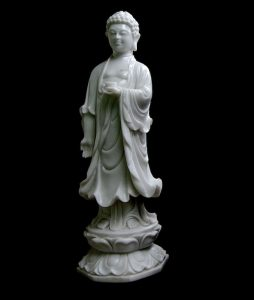 Buddha With Cup Marble Statute