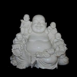 Buddha With Small Buddha Marble Statute