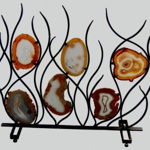 AGATE SLABS FIRE PLACE SCREEN