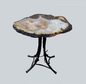 AGATE SLAB SIDE TABLE