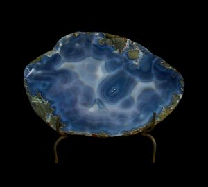 AGATE THICK SLAB IN METAL STAND