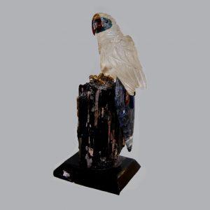 BIRD CARVED QUARTZ SODALITE