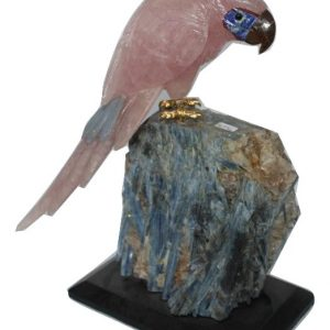 BIRD CARVED IN NATURAL STONE