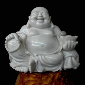 Happy Buddha White Marble