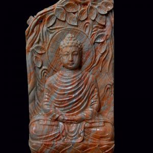 BUDDHA IN ONYX AND CALCITE