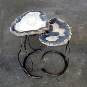 Agate Side Table Round Decor